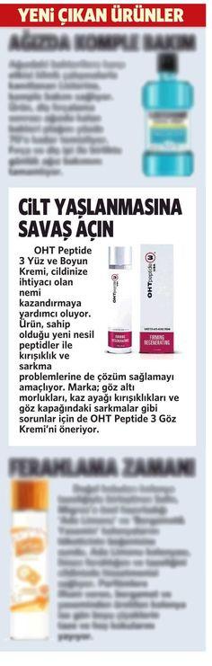 OHT Peptide 3 Milliyet Gazetesi'nde...