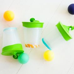 This inexpensive little craft kept my boys occupied for hours! See how to make your own Ping Pong Shooters!