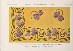 Motifs pour broderies : Dillmont, Thérèse de, 1846-1890 : Free Download, Borrow, and Streaming : Internet Archive Vintage Embroidery, Embroidery Thread, Retro Pattern, Needful Things, Free Ebooks, Textile Art, Needlepoint, Art Nouveau, Needlework