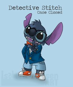 I started watching Detective Conan again, as that was one o. Lilo And Stitch 2002, Lilo And Stitch Quotes, Lilo Et Stitch, Baby Disney, Disney Art, Disney Stuff, Disney Drawings, Cute Drawings, Detective