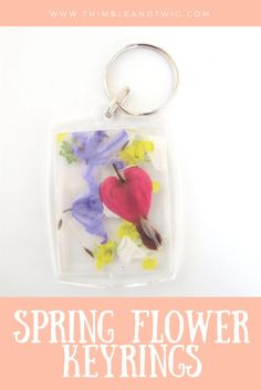Dandelion Wishes Spring Flower Keyrings. How to use flowers and petals to make gorgeous keyrings. Easy to make kid's crafts. Spring Crafts For Kids, Crafts For Kids To Make, Craft Activities For Kids, Preschool Crafts, Gifts For Kids, Nature Activities, Kids Crafts, Baby Activities, Spring Activities