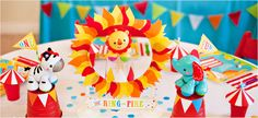 Circus Party Centerpiece - Ring of Fire DIY Tutorial