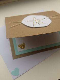 Sand Dollar Greeting Card, Nautical Themed Card, Handmade Card