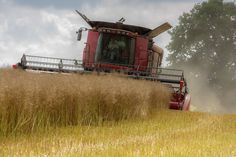 Case Combine Harvester 7120 axial flow , British Farming, agriculture
