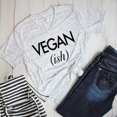 share the latest to my #etsy shop: Vegan ish Sleeve V-Neck T-Shirt  #veganshirt #veganclothing #birthday-gift