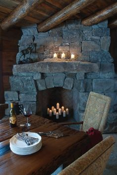 Fantastic Totally Free Stone Fireplace decor Concepts Latest Photo Stone Fireplace cottage Strategies Most recent Absolutely Free solid Stone Fireplace Stone Fireplace Decor, Home Fireplace, Fireplace Design, Stone Fireplaces, Stone Mantle, Fireplace Candles, Fireplace Ideas, Primitive Fireplace, Cottage Fireplace