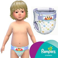 Wear on your babies quality diapers, this package adds to the game diapers inspired by the Pampers Cruisers line. And some adaptations for toddlers' clothes.