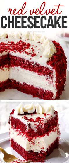 Red Velvet Cheesecake Cake, Best Cheesecake, Cheesecake Recipes, Dessert Recipes, Red Velvet Cheese Cake Recipe, Red Velvet Oreo Cake, Red Velvet Birthday Cake, Red Velvet Desserts, Red Velvet Recipes