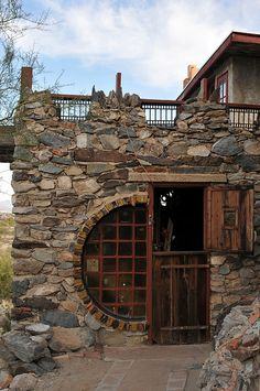 Mystery Castle, Phoenix, Arizona~Stone & wood-this is so different!