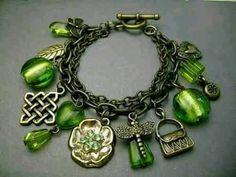Charm bracelet #MyBirthstone #peridot