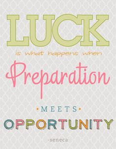 Learn how amp up your luck for the next race!