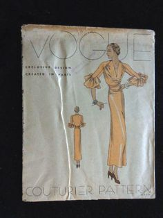 Vogue Couturier Pattern 287 | 1930s one-piece frock
