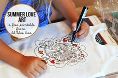 Summer love art....free printable to celebrate the beginning of summer vacation