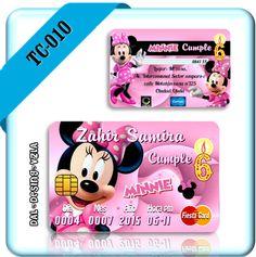 Invitaciones Tarjeta De Credito Pvc Infantil Personalizadas - Bs. 259,00 en MercadoLibre