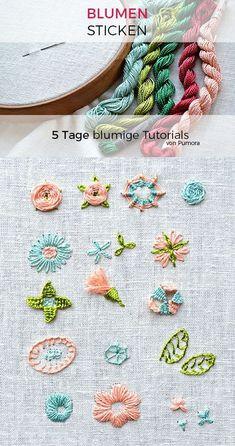Blog-Serie: Blumen sticken
