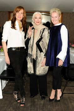 Fabulously fashionable ladies! Daniella Vitale, Carmen Dell'Orefice, and Christina Zeller. This Week In Parties November 7 - Celebrity Fashion At Parties - Elle