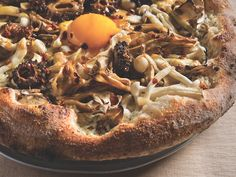 "An ""Impress Your Friends"" Recipe From Famous Chef Jean-Georges: Mixed Wild Mushroom Pizza With Fried Eggs"