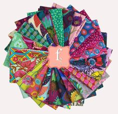 Fabric Squares, Fabric Strips, Free Spirit Fabrics, Cotton Quilting Fabric, Charm Pack, Saturated Color, Warm Colors, Bright Colors, Quilt Top