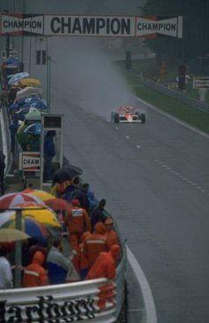 Ayrton Senna, GP de Spa em 1989.