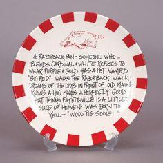 Arkansas Razorbacks Ceramic Fan Definition Plate - Arkansas Razorbacks