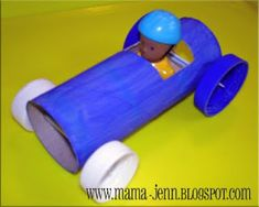 Vehicle Crafts For Preschoolers Toilet Paper Roll Race Cars