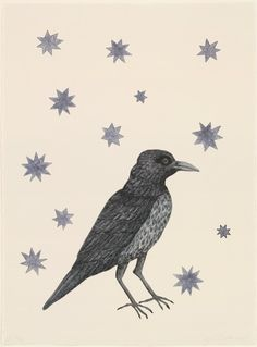 [Kiki Smith. Bird with Stars. 2005]