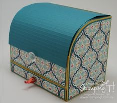 Roller Top Card Box *looking for something like this to make for end of the year teacher gifts-JT