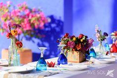 rich colors boho table