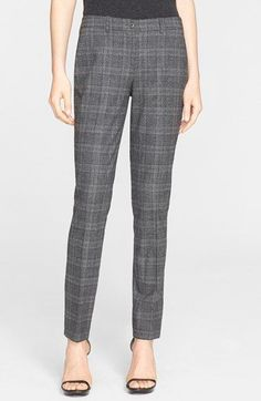 Michael Kors 'Samantha' Glen Plaid Stretch Wool Pants available at #Nordstrom