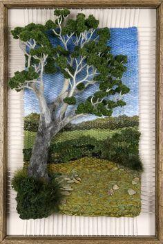 Discover thousands of images about Dimensional Weaving - Martina Celerin fiber art Weaving Projects, Weaving Art, Loom Weaving, Tapestry Weaving, Hand Weaving, Moss Art, Landscape Quilts, Felt Art, Weaving Techniques