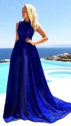 Royal Blue Prom Dresses, A Line Prom Dresses, Lace Bridesmaid Dresses, Lace Evening Dresses, Cheap Prom Dresses, Sexy Dresses, Blue Dresses, Lace Dress, Party Dresses