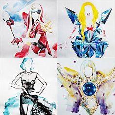 Gaga tours watercolour