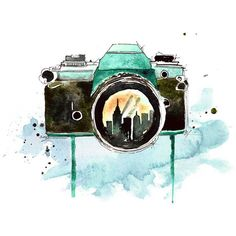 Watercolor Painting Print art piece, Photography home decor and wall... ($15) ❤ liked on Polyvore featuring art, backgrounds, fillers, pictures, decor, doodle, quotes, scribble, saying and phrase