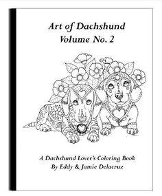 This coloring book consists of 15 hand drawn images of beautiful Dachshunds for you to color. Any watermarks or logos seen on the photos will not