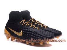 separation shoes 99a94 623c9 Nike Magista Orden II FG Chaussure Officiel Prix de football à crampons  pour terrain sec pour Homme Noir Or