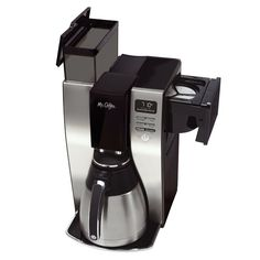 Coffee 10 Cup Optimal Brew Thermal Coffeemaker, Stainless Steel Brewing speed is part of the process in achieving optimal coffee flavor. Thermal Coffee Maker, Drip Coffee Maker, Coffee Brewer, Coffee Shop, Coffee Coffee, Filter Coffee Machine, Home Coffee Machines, Appliance Sale, Black Stainless Steel