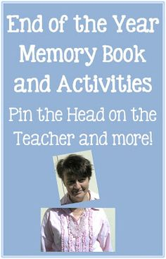End of the Year Memory Book and Activities blog post