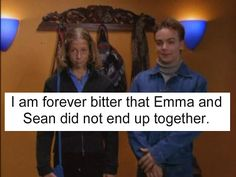Degrassi TNG- Wish Emma and Sean had lasted