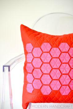 Quilt it Modern // Hexie Pillows