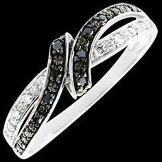 Ring Clair Obscure Rendez-vous - white gold, black diamond, Fluid motion and curves done in black and white under twinkling diamonds 8 diamonds: carat - White gold Gold = g Black Diamond : 12 - Total : carat Ring Ring, Black Gold, Piercing, Wedding Rings, Jewels, Bracelets, Black Diamonds, Jewellery, Fashion