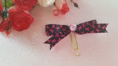 Breast Cancer Awareness Planner Bow- Pink and Black by DixiePlannerDesigns on Etsy