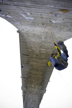 A bridge turned into a multipitch climb! Pretty awesome.