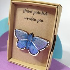 Common Blue Butterfly, Paper Packaging, Wooden Hand, Mothers Day Cards, Small Boxes, Badger, Paper Gifts, I Fall In Love, Pin Collection
