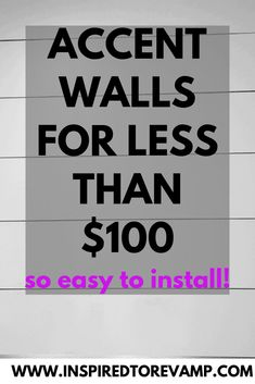 Accent Walls for less than $100 Accent Wall In Kitchen, Accent Walls In Living Room, Accent Wall Bedroom, Living Room Decor, Accent Wall Designs, Accent Wall Colors, Wall Accents, Shiplap Boards, Shiplap Diy