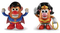 Superman Mr. Potato Head and Wonder Woman Mrs. Potato Head Coming in August - ComicsAlliance   Comic book culture, news, humor, commentary, and reviews