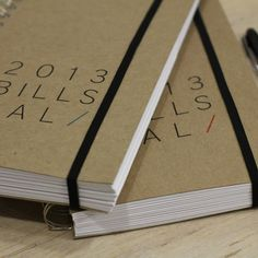 DATED bills calendar. $32.00, via Etsy.