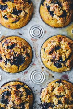 Turmeric Blueberry Breakfast Muffins. Also lots of suggestions for slight adjustments. I may make some this winter swapping frozen blackberry for the blueberries. Carrot can be added, too.
