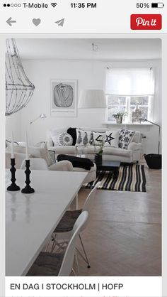 I love the clean and cool black and white combo
