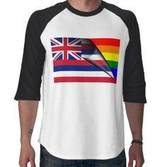 Gay Pride Rainbow Hawaii Flag T-shirts