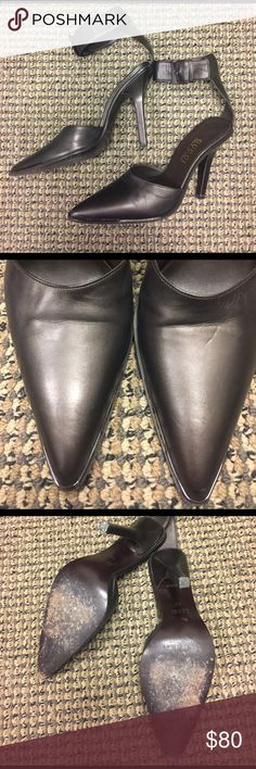 Gucci Heels Size 6 Creases in the leather. Some marks in the Heels. (All shown in picture) Gucci Shoes Heels